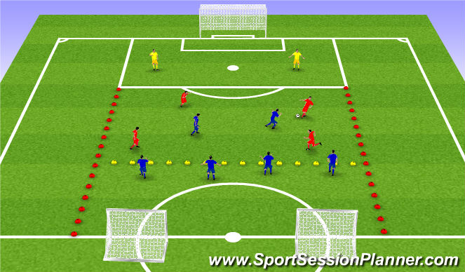 Football/Soccer Session Plan Drill (Colour): Leikrænþjálfu: