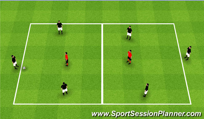 Football/Soccer Session Plan Drill (Colour): Target Exchange