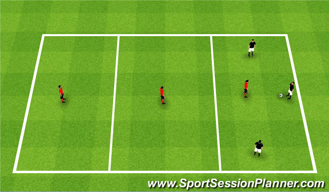 Football/Soccer Session Plan Drill (Colour): 3 Zone Transition