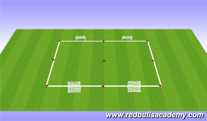 Football/Soccer Session Plan Drill (Colour): Mini-games