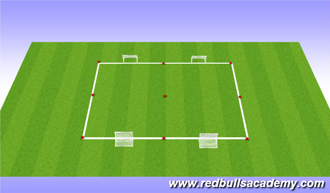 Football/Soccer Session Plan Drill (Colour): 3v3 game