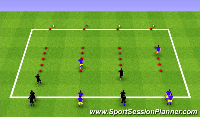 Football/Soccer Session Plan Drill (Colour): SAQs