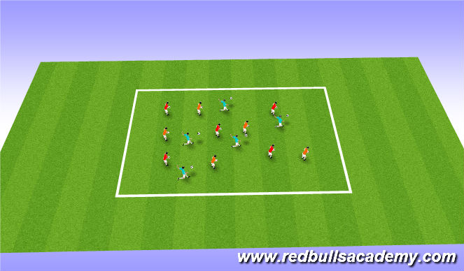 Football/Soccer Session Plan Drill (Colour): Spongebob warm up
