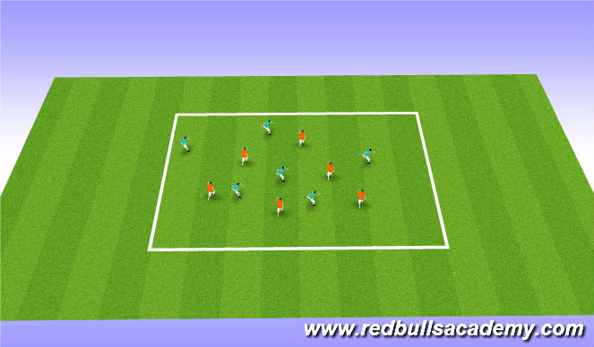 Football/Soccer Session Plan Drill (Colour): scissors intro