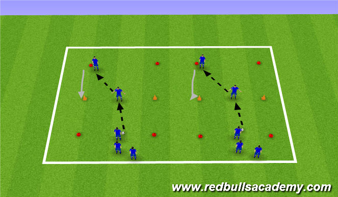Football/Soccer Session Plan Drill (Colour): passing recieving