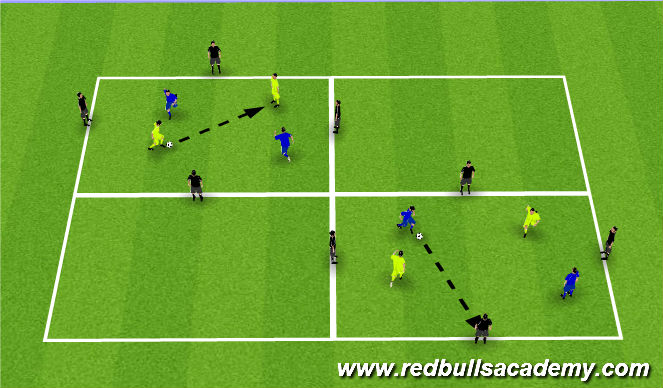 Football/Soccer Session Plan Drill (Colour): passing/moving.recieving