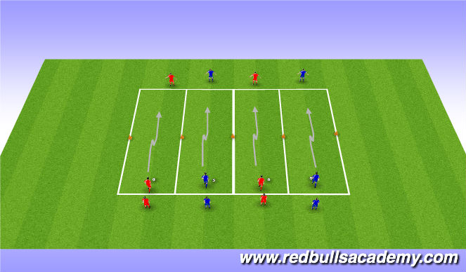Football/Soccer Session Plan Drill (Colour): Warm- up- Pull-push