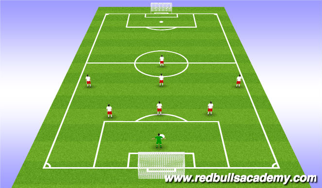 Football/Soccer Session Plan Drill (Colour): Game Line-Up