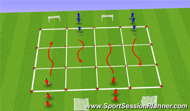 Football/Soccer Session Plan Drill (Colour): Kern 2