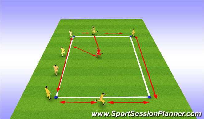 Football/Soccer Session Plan Drill (Colour): Skill Intro - Creep Game