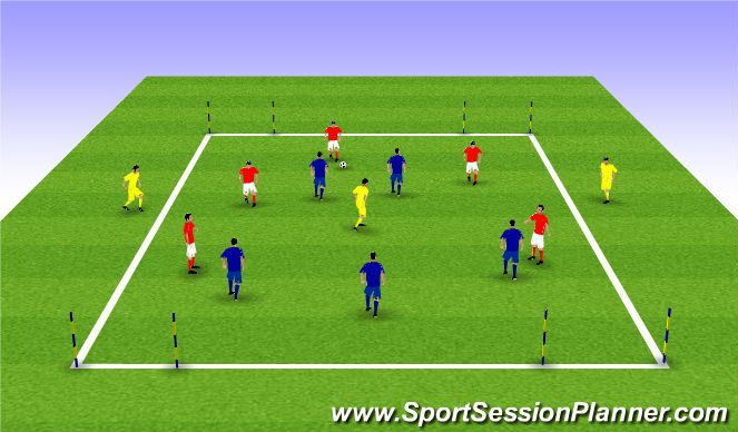 Football/Soccer Session Plan Drill (Colour): 5v5 + 3