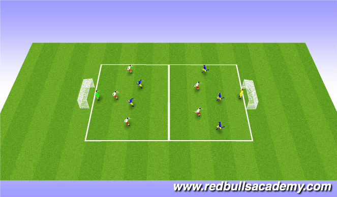Football/Soccer Session Plan Drill (Colour): 4v3 game