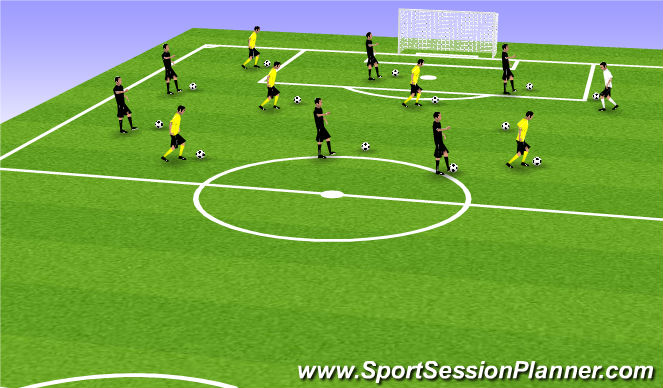 Football/Soccer Session Plan Drill (Colour): Technical Warmup (20 mins)