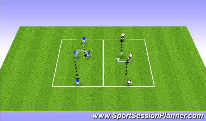 Football/Soccer Session Plan Drill (Colour): A Drill