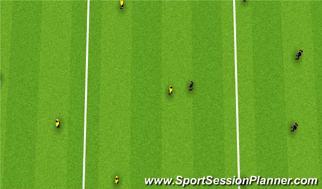 Football/Soccer Session Plan Drill (Colour): Small sided game (25 mins)