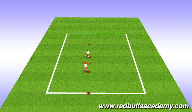 Football/Soccer Session Plan Drill (Colour): Chip Stations