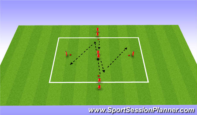 Football/Soccer Session Plan Drill (Colour): Screen 4 Passing Drills