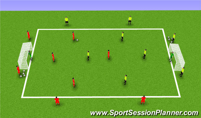 Football/Soccer Session Plan Drill (Colour): 4v4