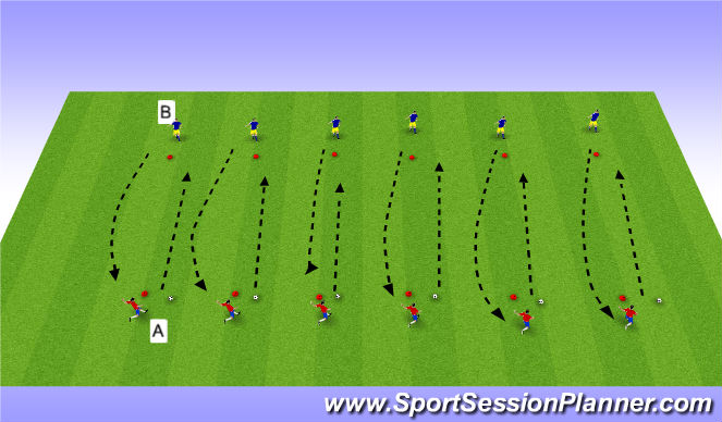 Football/Soccer Session Plan Drill (Colour): Mid range passing