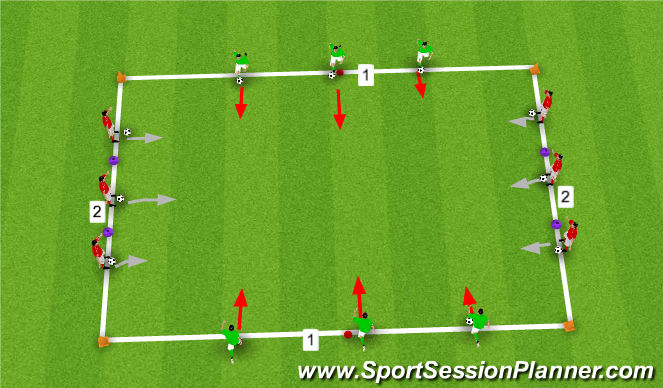 Football/Soccer Session Plan Drill (Colour): Technical Pratice
