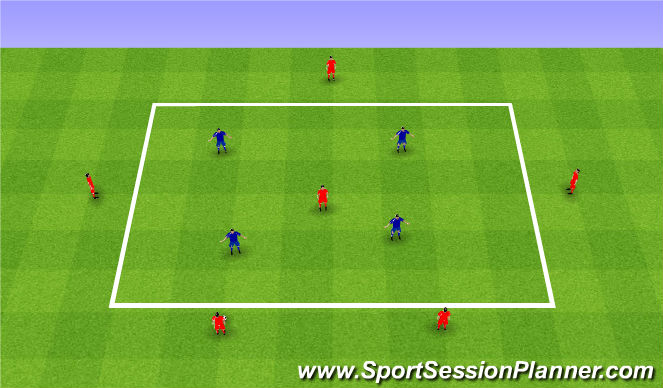 Football/Soccer Session Plan Drill (Colour): Positional organization. Organizacja gry w ataku.