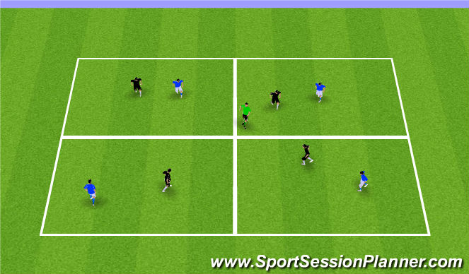 Football/Soccer Session Plan Drill (Colour): Optional: Possession