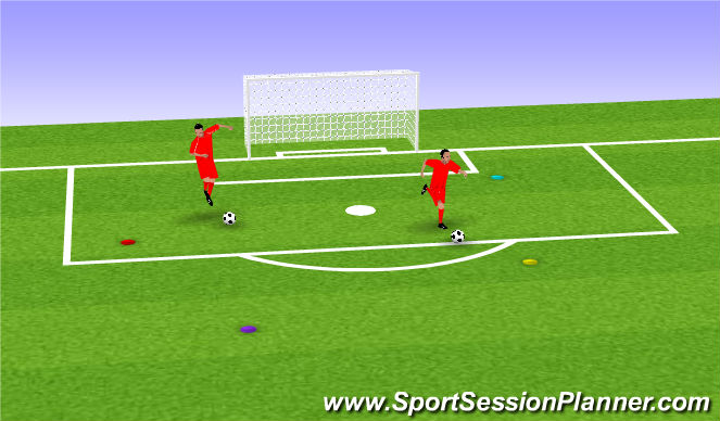 Football/Soccer Session Plan Drill (Colour): I Spy