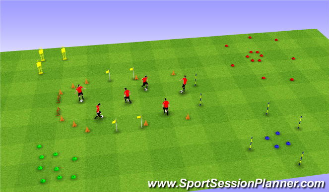 Football/Soccer Session Plan Drill (Colour): Toy Story 2 - Buzz!