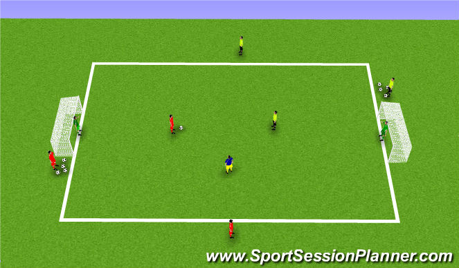 Football/Soccer Session Plan Drill (Colour): 1v1+ number 8