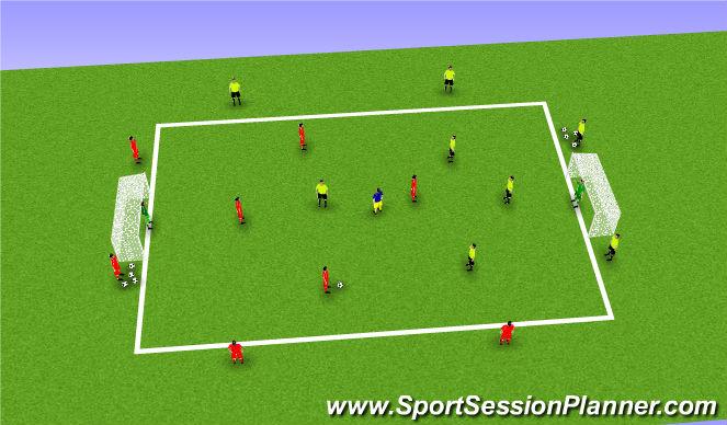Football Soccer 4v4 Number 8 Going To Goal Technical
