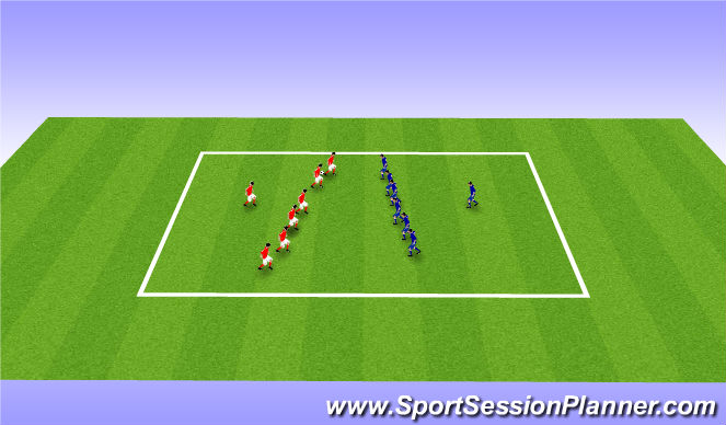 Football/Soccer Session Plan Drill (Colour): Warm Up - Touch Rugby