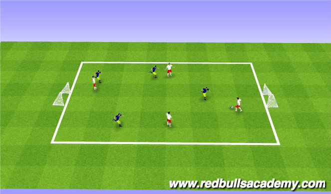 Football/Soccer Session Plan Drill (Colour): 4v4 GAME
