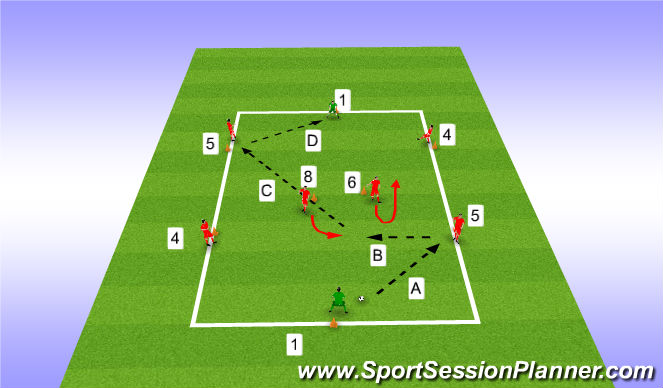 Football/Soccer Session Plan Drill (Colour): Warm Up Play out of the back