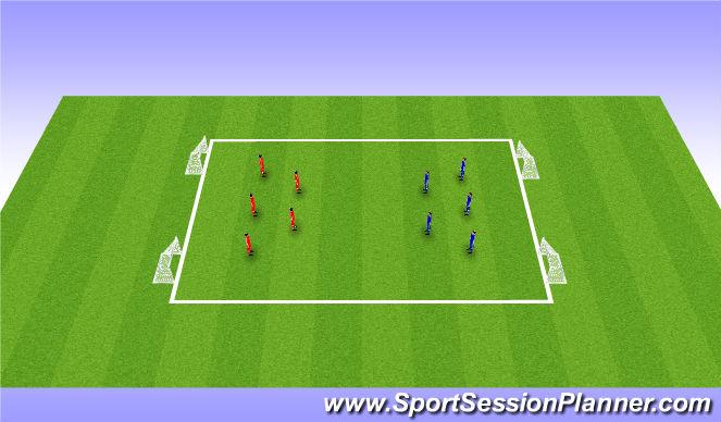 Football/Soccer Session Plan Drill (Colour): SSG (Global)