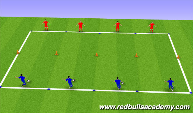 Football/Soccer Session Plan Drill (Colour): Warm up- Passing and Receiving
