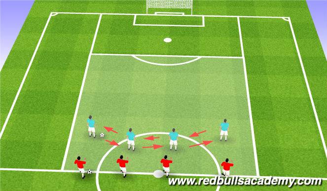 Football/Soccer Session Plan Drill (Colour): Side to Side Movement (Warm-up)