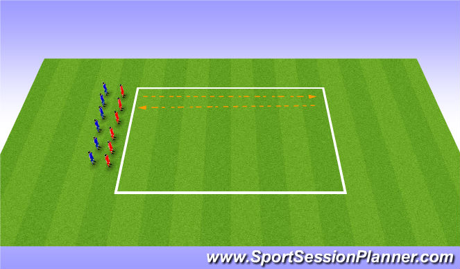 Football/Soccer Session Plan Drill (Colour): Cool Down 15 min