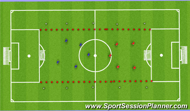 Football/Soccer Session Plan Drill (Colour): SSG - Pass Receive