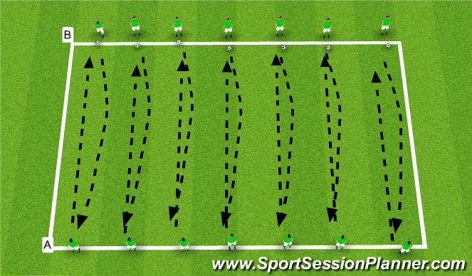 Football/Soccer Session Plan Drill (Colour): Aerial and Ground Control