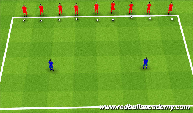 Football/Soccer Session Plan Drill (Colour): Warm up- Sharks and Minnows