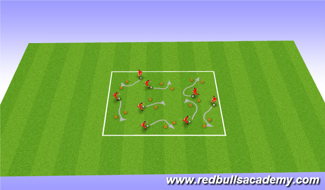 Football/Soccer Session Plan Drill (Colour): Horse riding