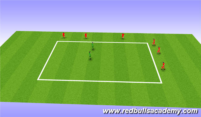 Football/Soccer Session Plan Drill (Colour): Stampeed