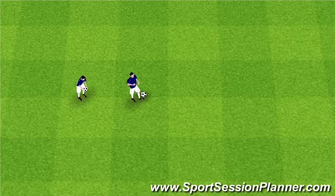 Football/Soccer Session Plan Drill (Colour): Free Juggle