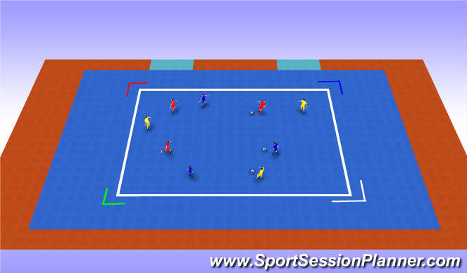 Futsal Session Plan Drill (Colour): Scanning