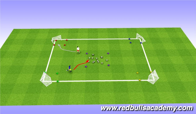 Football/Soccer Session Plan Drill (Colour): Pizza Planet Claw Game