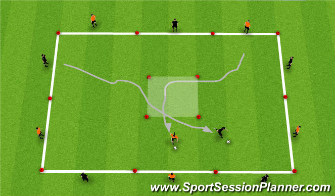 Football/Soccer Session Plan Drill (Colour): Running With The Ball Technique