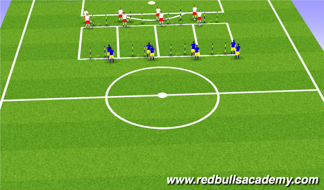 Football/Soccer Session Plan Drill (Colour): 1v1 - Pressure