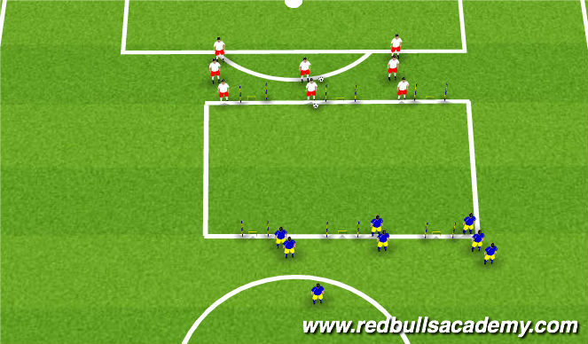 Football/Soccer Session Plan Drill (Colour): 3v3 - Balance