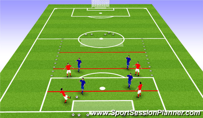 Football/Soccer Session Plan Drill (Colour): Game Related Practice