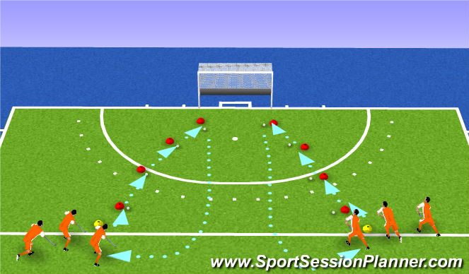 Hockey Session Plan Drill (Colour): self pass